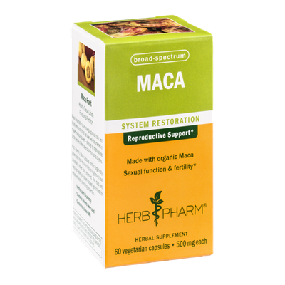 Herb Pharm MACA System Restoration Herbal Supplement Vegetarian Capsules - 60 CT