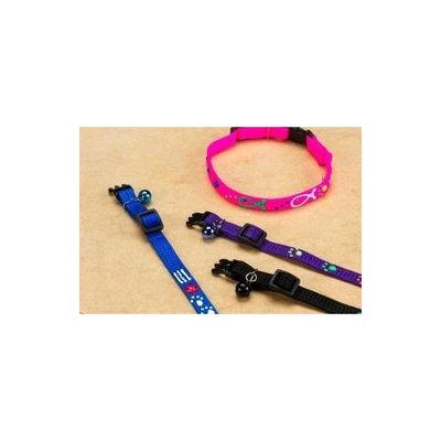 Hamilton 811 SQGLO PWSBK 3/8-Inch Adjustable Break-A-Way Safe Cat Collar with Glow in the Dark Paw Design