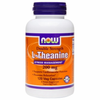 NOW Foods Double Strength L-Theanine 200mg, Veggie Capsules, 120 ea