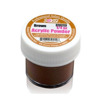1/4 Ounce Brown Acrylic Powder by Sassi for Beautiful Nails