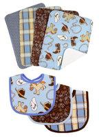 Trend Lab Cowboy Baby Bib & Burp Cloth Bouquet Set