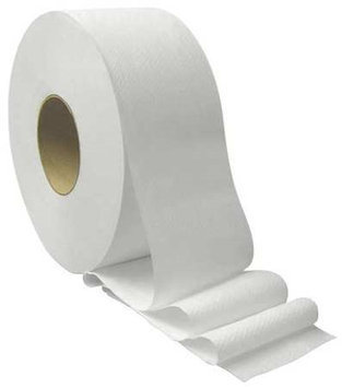TOUGH GUY 31KY17 Toilet Paper, Jumbo, White,9 in. dia, PK12