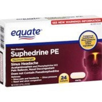 Equate Maximum Strength Suphedrine PE 24ct Sinus Headache Compare to Sudafed PE Sinus Pressure & Pain Caplets