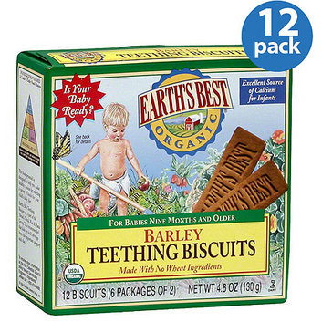 Earth's Best Organic Barley Teething Biscuits