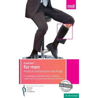 Mediven for Men 20-30mmHg Knee High Compression Socks : Black Size III
