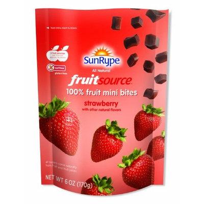 Sun Rype FruitSource 100% Fruit Mini Bites (Case of 12) (Strawberry)