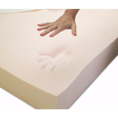 Memory Foam Solutions California King 4 Inch Thick, 5 pound Density Visco Elastic Memory Foam Mattress Pad Bed Topper Made in the USA