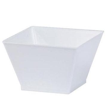 King Zak Ind Lillian Tablesettings 65991 Pearl 8 Oz Rectangular Plastic Condiment Bowls - 240 Per Case
