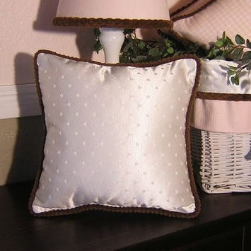 Brandee Danielle Pink Chocolate Ivory Decorative Pillow