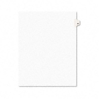 Avery AVERY-STYLE LEGAL SIDE TAB DIVIDER, TITLE: 28, LETTER, WHITE, 25/PACK