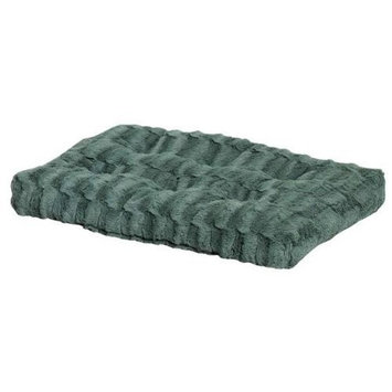 MIDWEST HOMES for PETS 277249 Quiet Deluxe Mosaic Bed, 35 by 23-Inch, Green