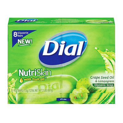 Dial Nutriskin Grape Seed Oil & Lemongrass Bar Soap