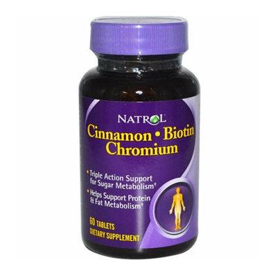 Natrol Cinnamon Biotin Chromium 60 Tablets