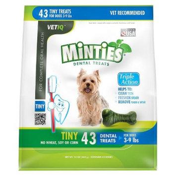 VetIQ Minties Dental Bone Pet Treat for Dogs - 12 Oz (XS)