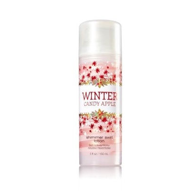Bath & Body Works® WINTER CANDY APPLE Shimmer Swirl Lotion