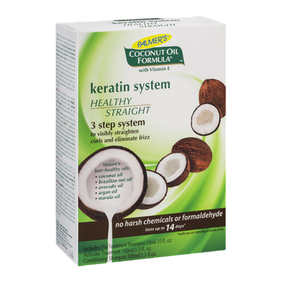 Palmer's Coconut Oil Formula Keratin System Healthy Straigth 3 Step System