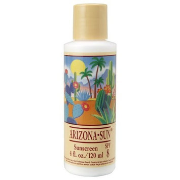 Arizona Sun Sunscreen SPF 8 - 4 oz - A Sun Protection Sun Screen Lotion - Natural Oil Free -Face and Body Sunblock- Sun Block for Outdoors