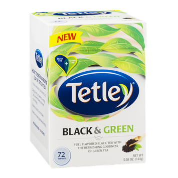 Tetley Black & Green Tea Bags - 72 CT