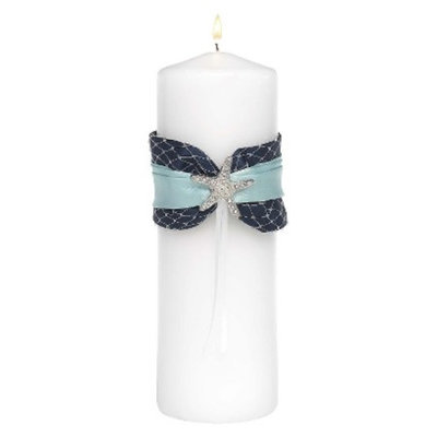 Hortense B. Hewitt Treasures From The Sea Unity Candle - White