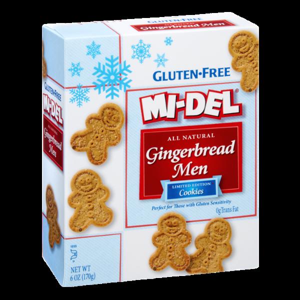 Mi-Del Gluten-Free All Natural Gingerbread Men Cookies