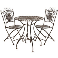 Oriental Furniture 3 Piece Dining Set Finish: Rust Patina