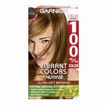 Garnier 100% Color Vibrant Colors by Nutrisse Ultra-Lift Browns One-Step Lightening Gel-Creme Color UB-3 Golden Brown
