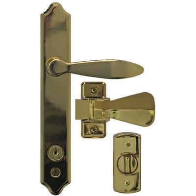 Ideal Security Inc. Deluxe E-Coat Storm Door Handle Set with Deadbolt SK1215BB
