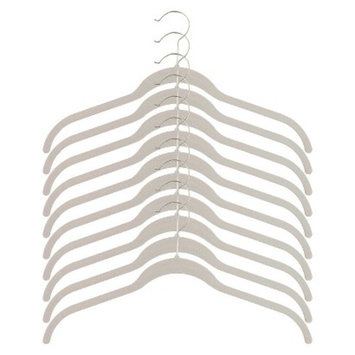 Joy Mangano Huggable Hangers 10-pk Shirt Hangers - White
