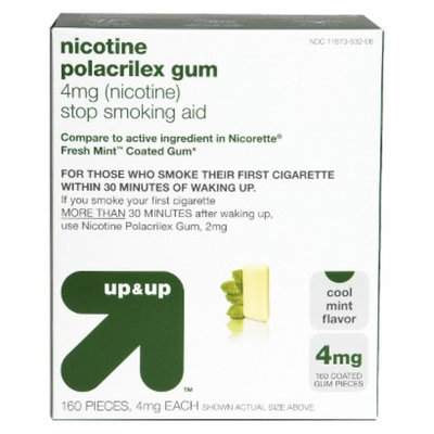 up & up 160-ct. Cool Mint Nicotine Polacrilex Gum 4-mg.