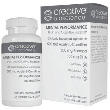 Creative Bioscience, Llc Creative Bioscience Mental Performance Dietary Supplement, 60 count