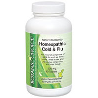 Botanic Choice Homeopathic Cold And Flu Relief, 300 mg., 90 Count (Pack of 2)