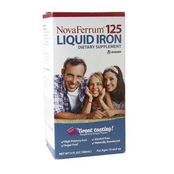 NovaFerrum 125 Liquid Iron Supplement, Raspberry Grape, 6 fl oz