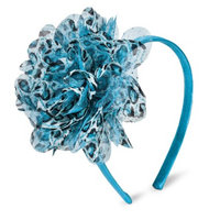 Fantasia Accessories Girls' Leopard Flower Headband - Turquoise