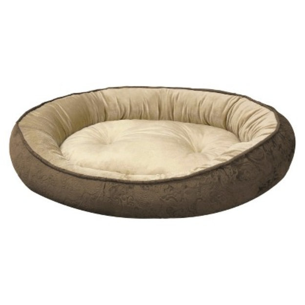arlee home fashions canine creations cuddler pet bed - mocha