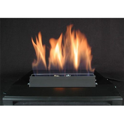American Fireglass 20 Single Face Black finish Natural Gas Burner with On/Off Control