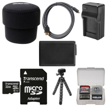 OP/Tech Essentials Bundle for Sony ILCE-QX1 Smartphone Attachable Lens-Style Camera with 32GB Card + Case + NP-FW50 Battery & Charger + Tripod + HDMI Cable + Kit