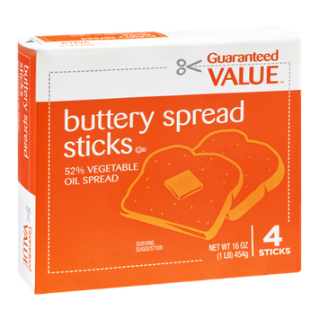 Guaranteed Value Buttery Spread Sticks - 4 CT