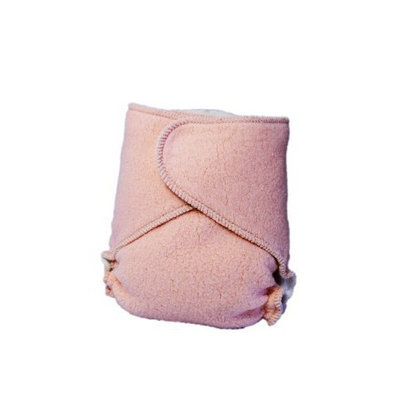 Kissaluvs Cotton Fleece Hybrid One Size Contour Diaper, Orange