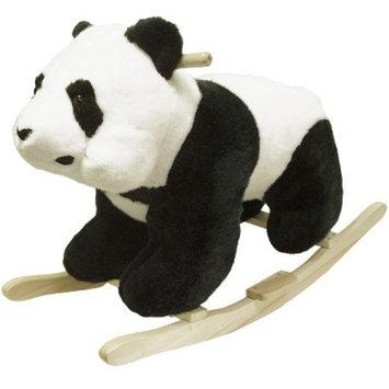 Trademark Happy Trails Plush Rocking Panda - Black/White