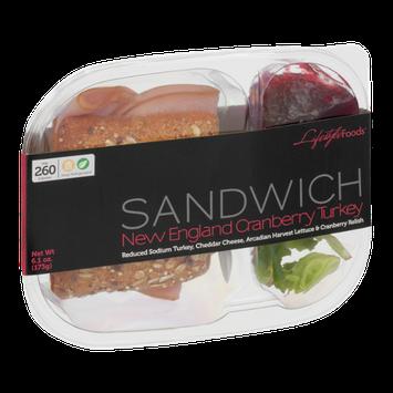 Lifestyle Foods Sandwich New England Cranberry Turkey
