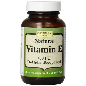 Only Natural Vitamin E 400 IU Soft Capsules, 90 Count