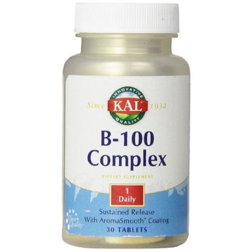 KAL B-100 Complex SR Tablets, 100 mg, 30 Count