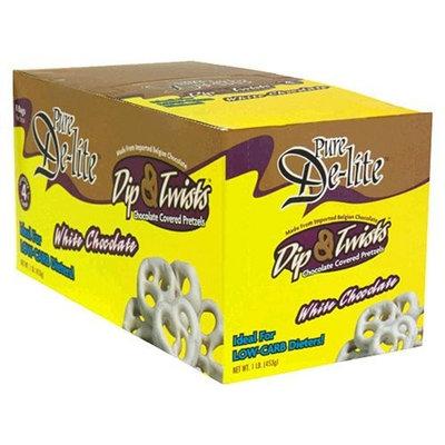 Drugstore.com - Drop Ship Pure De-Lite Dip & Twists Chocolate Covered Pretzels, White Chocolate , 8 bags [1 lb (453 g)]