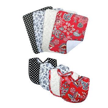 Trend Lab Llc Waverly Baby by Trend Lab Charismatic Bib and Burp Cloth Set