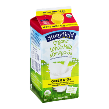 Stonyfield Organic Whole Milk & Omega-3s