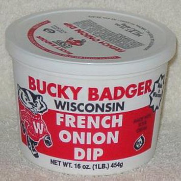 Bucky Badger French Onion Dip