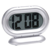 Timelink Room Essentials Big Digit Alarm Clock - Silver