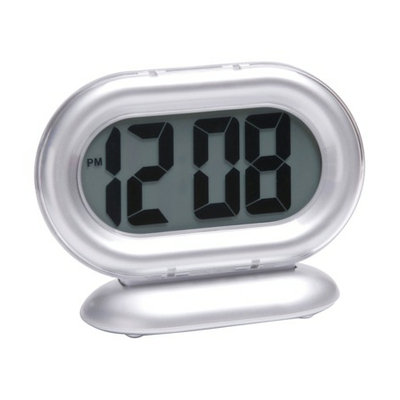 Timelink Room Essentials Big Digit Alarm Clock - Silver