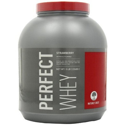 Nature's Best Natures Best Perfect Whey Protein, Strawberry, 5-Pound Tub