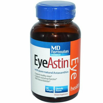 Nutrex Hawaii MD Formulas EyeAstin 60 Vegetarian Softgels
